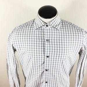 P28 Isaia Plaid Button Front Shirt